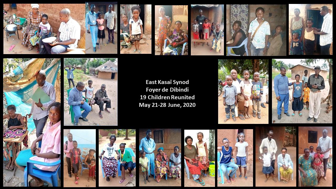 Reunited Children - East Kasaï Synod.