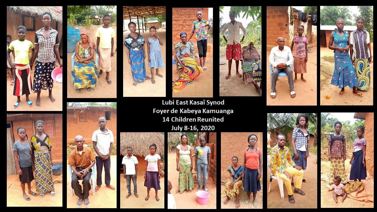 Reunited Children - Lubi East Kasaï Synod.