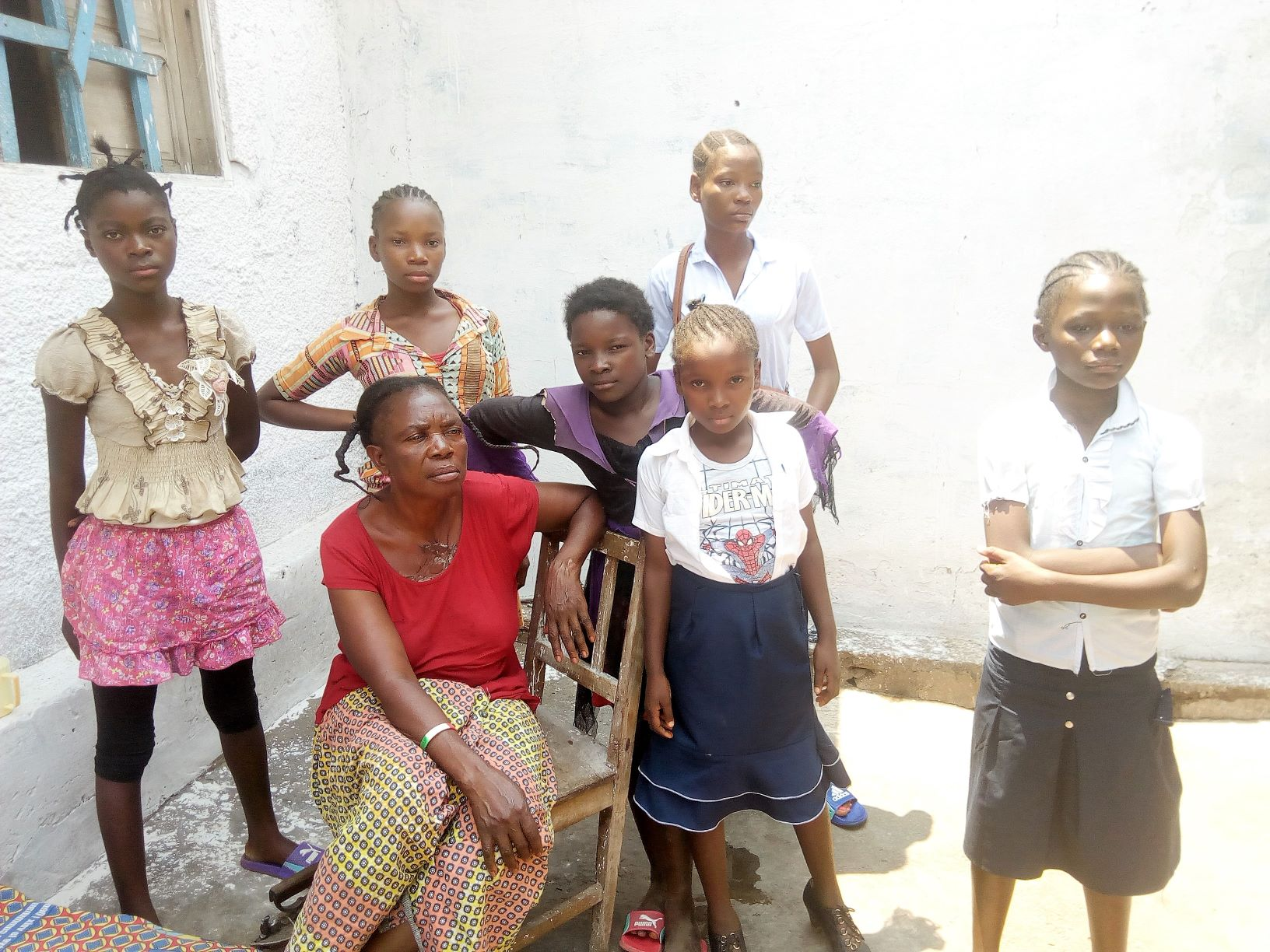 Housemother Mado of the Foyer de Dibindi with children that were under her care.