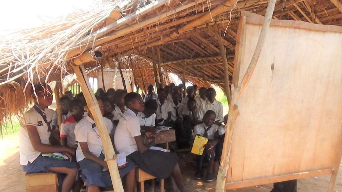 Pastor Benoît Mingedi negotiates with local schools to waive fees for reintegrated students in Kabeya Kamuanga.