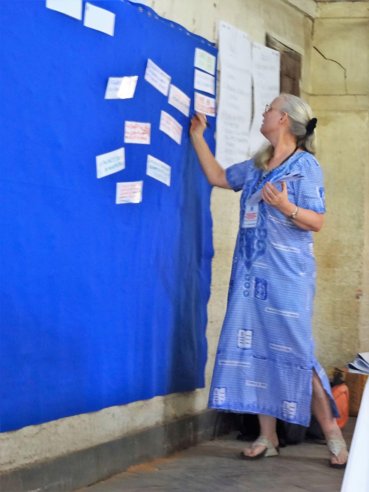 Christi facilitates the CPC's participatory strategic planning workshop in 2017.