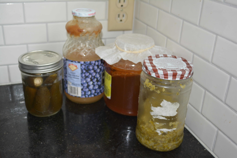 Jeremy's fermentation corner.