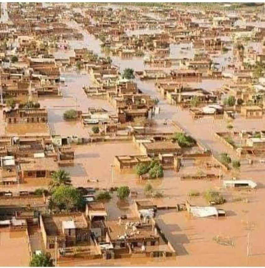 An aerial photo of Niamey during the floods two weeks ago.