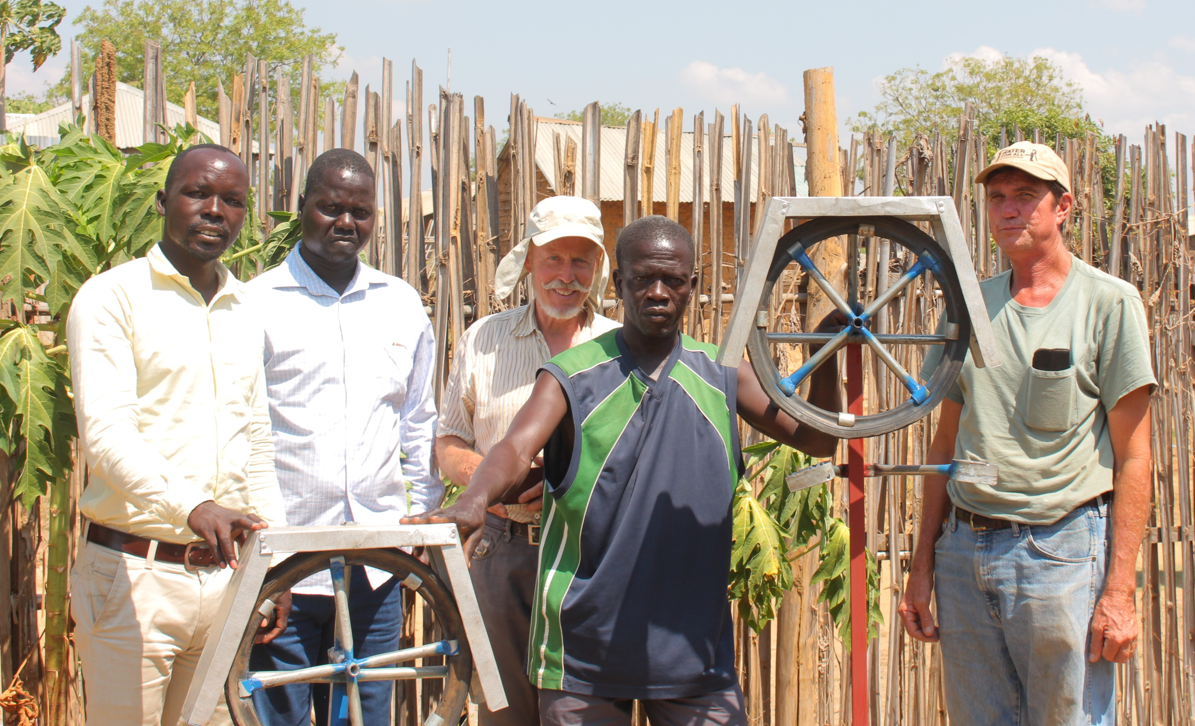 Jay Alual, Othow Okoti, Henk Holtslag, Francis Duku and Jim McGill (from left) upon completion of training in 2017.