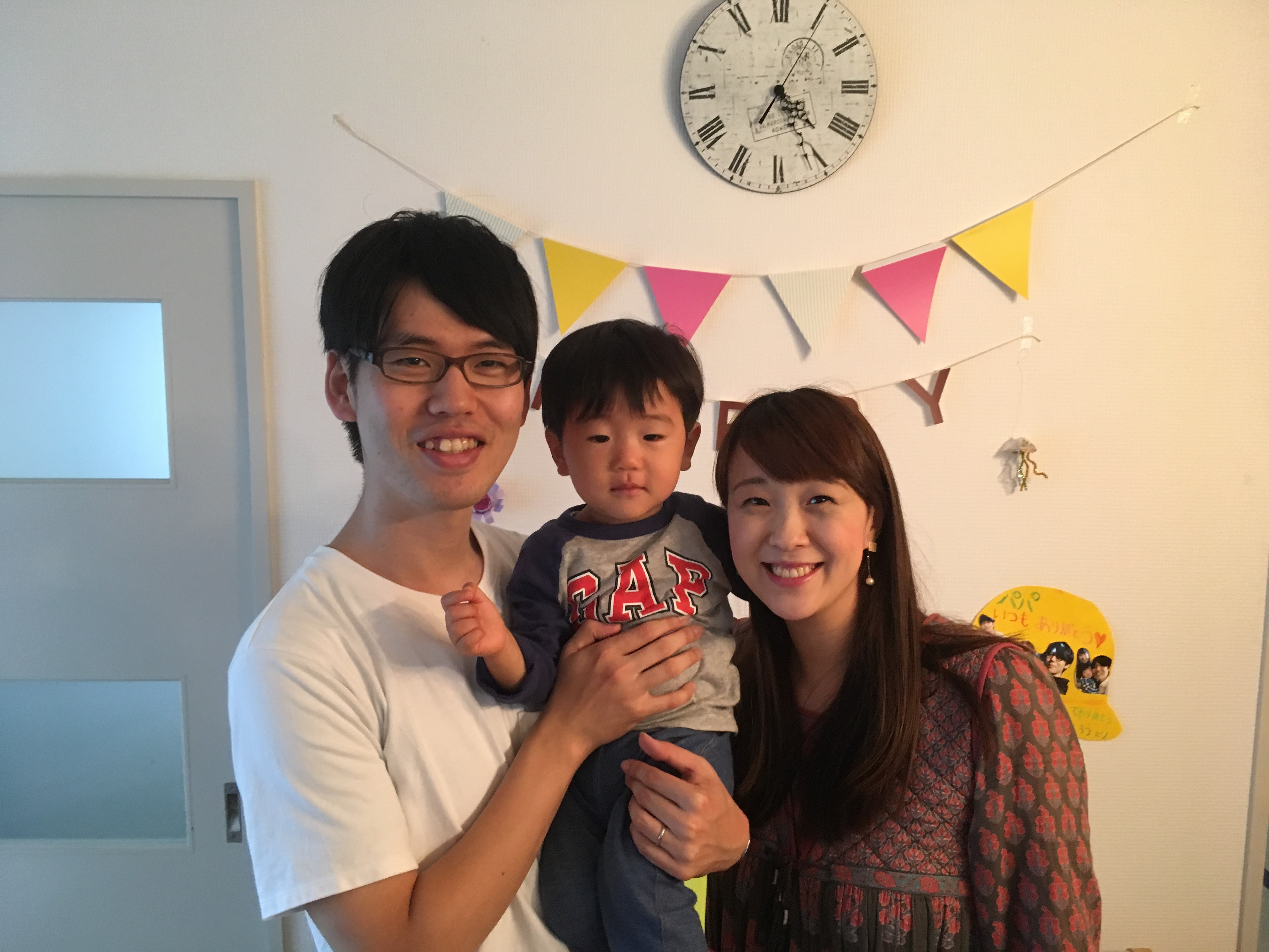 Dr. Michiru and Maho with their son.