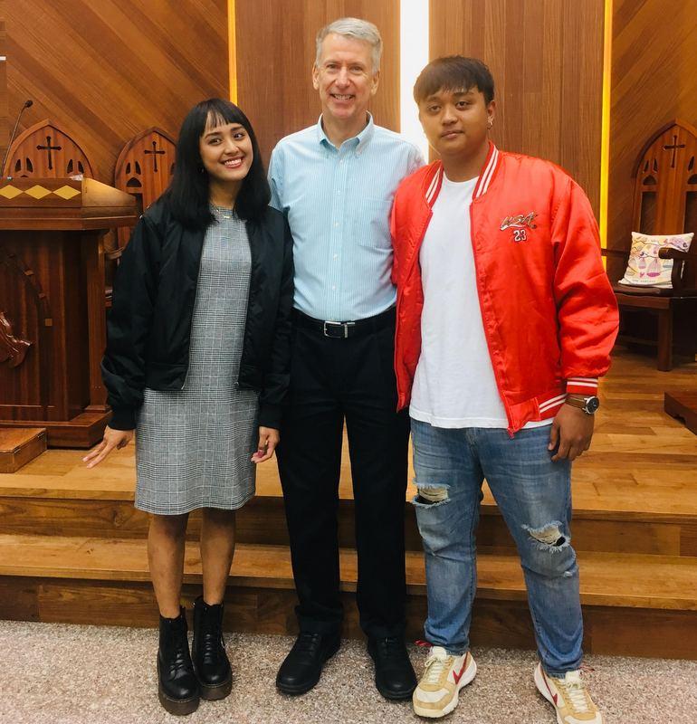 Two Lucai aboriginal youth whom I baptized 18 years ago.