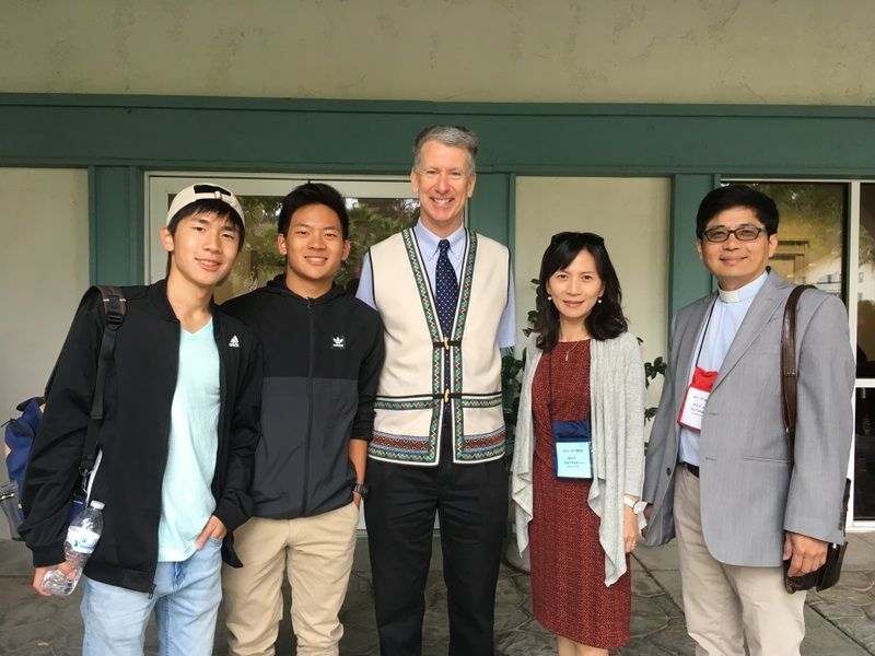 Pastor and Mrs. Tsai with their two sons. Dylan, who wrote the inspiring words quoted below, is on the far left.