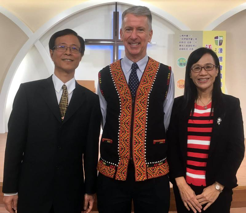 John with Pastor and Ms. Dai.