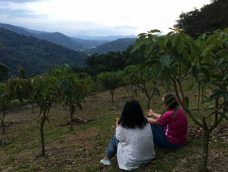 Prayer Partners in the Mango Grove.