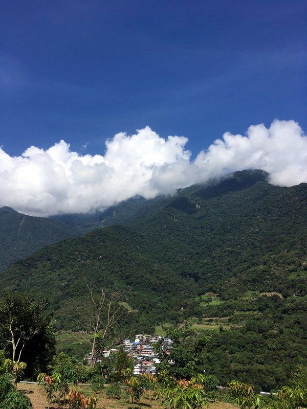 Bunun village nestled in the mountains.
