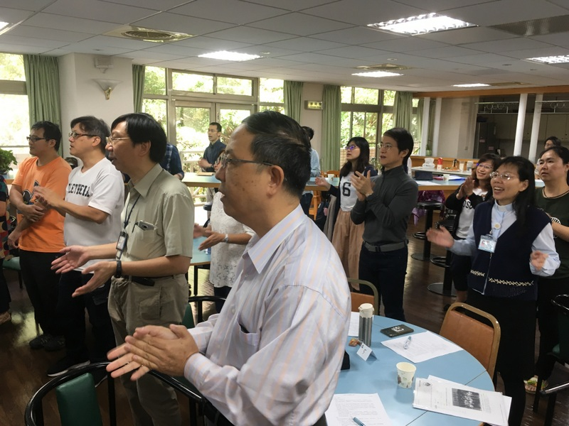 I led a retreat for the staff at McKay Hospital earlier in the year. Staff and chaplains sing together at the retreat.