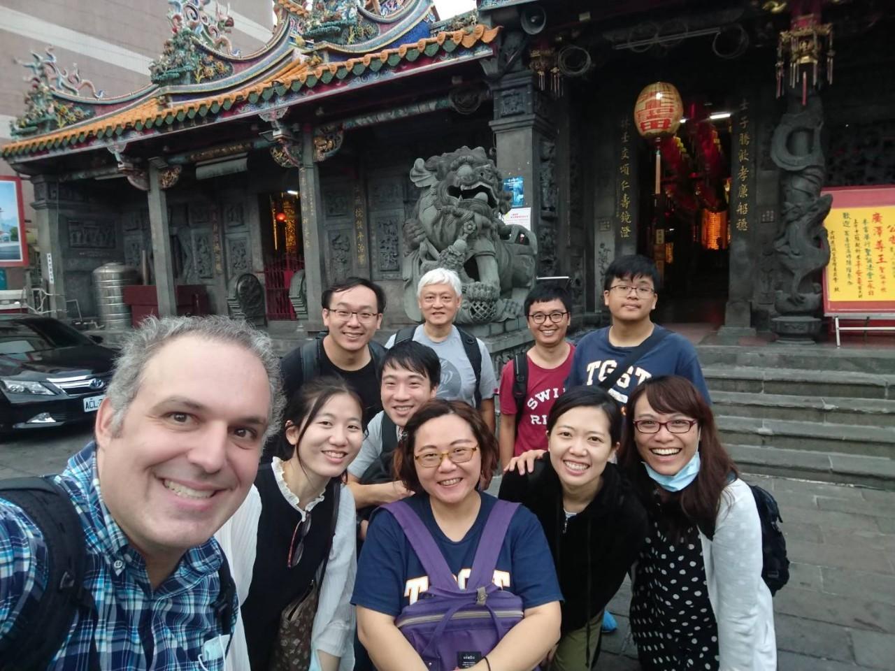 Shilin Mazu Temple class selfie.