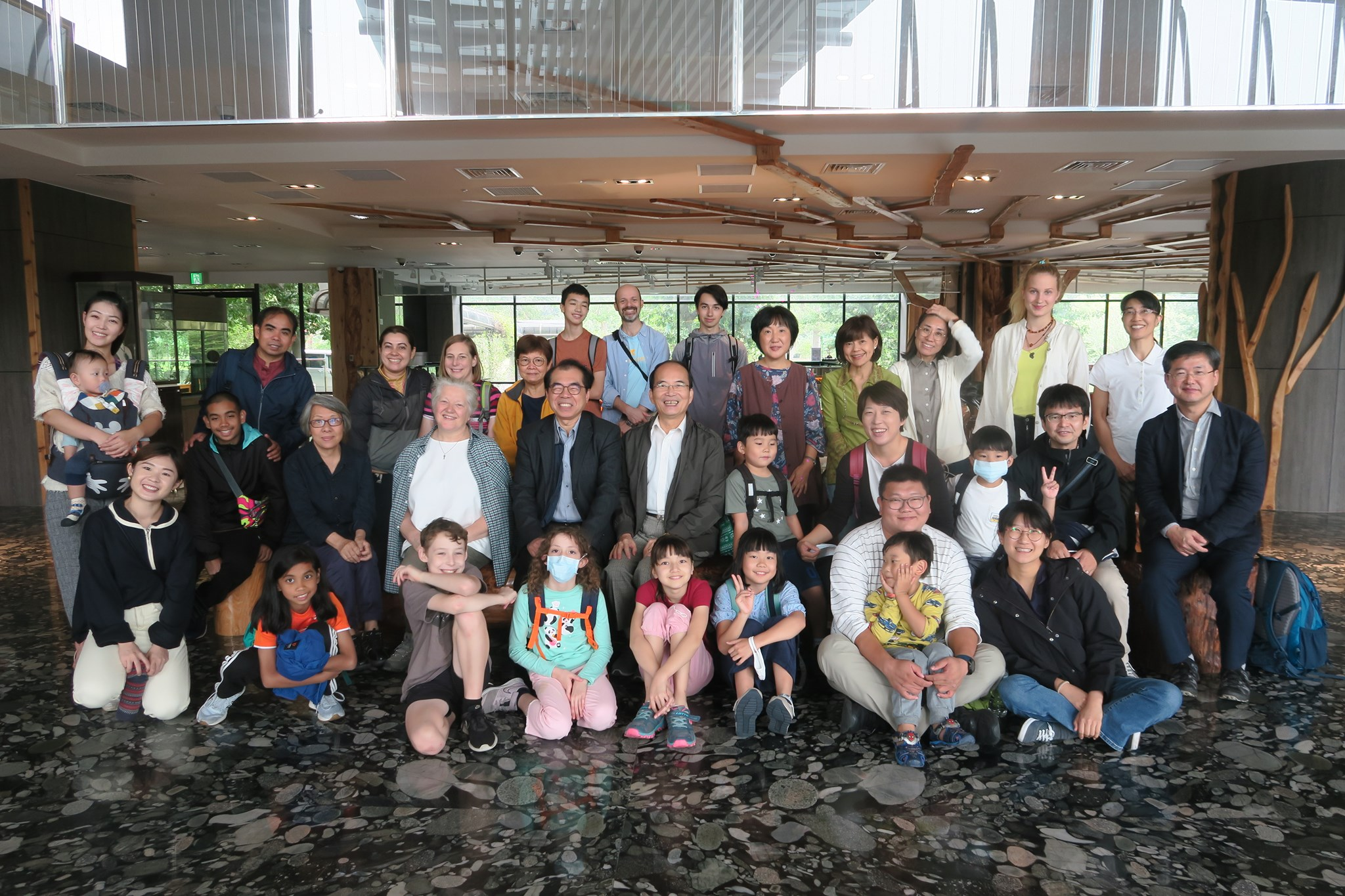 Presbyterian Church of Taiwan (PCT) Missionary Gathering in December with Emily and the twins. Photo by Lin Wan-Jou.