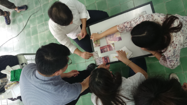 Taiwan Seminary graduating students put together a collage as part of their end of year activities.