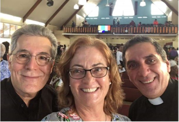David, Jo Ella and Valdir at the Celebration of the United Church of Jamaica and the Cayman Islands on February 26, 2020.