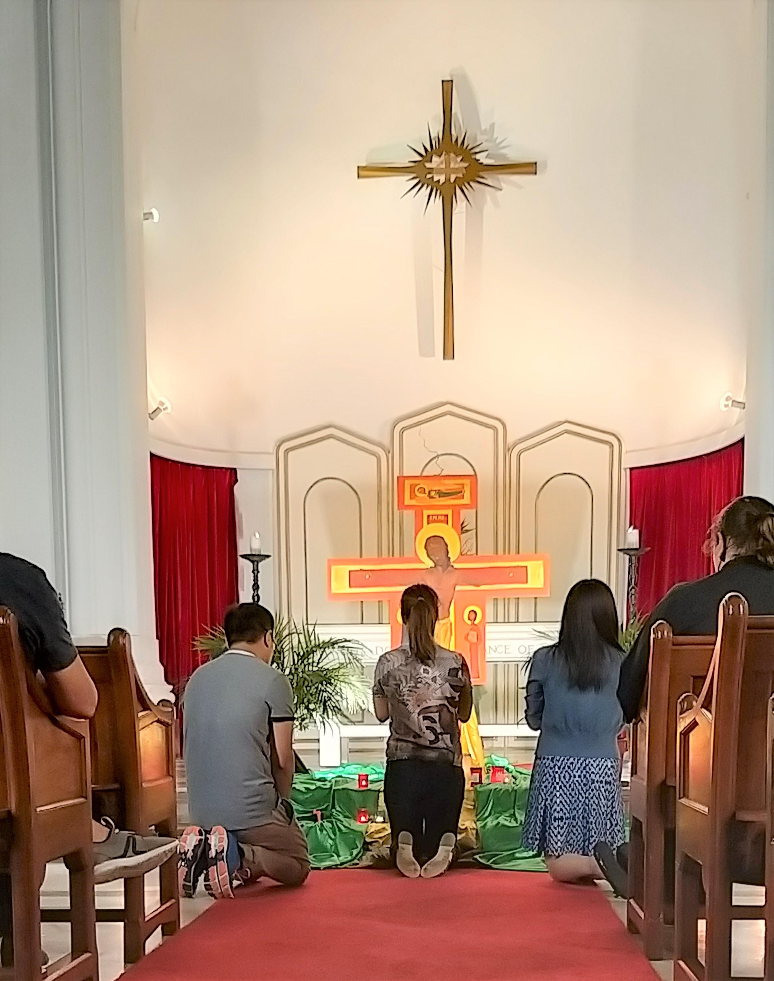 Prayers at the Cross.