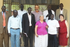 The leaders of the Nuer Church in Gambella.