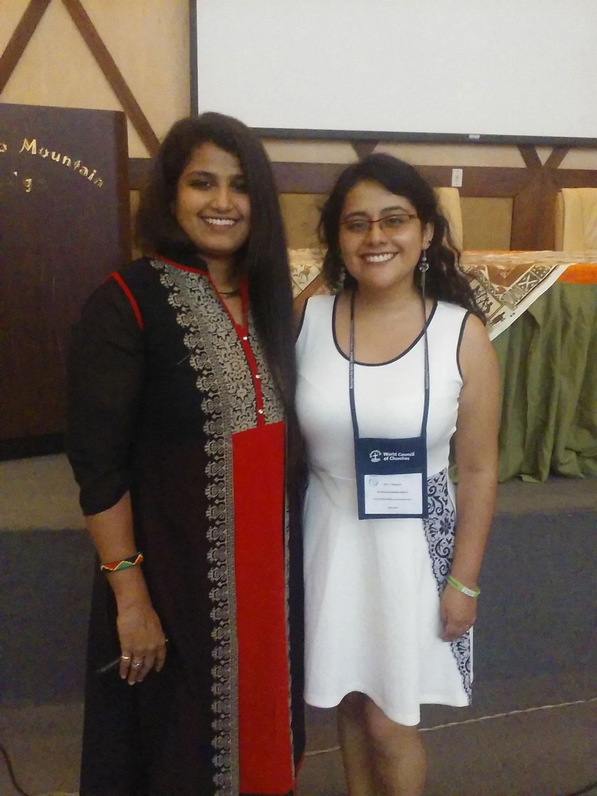 Nataly with Vedanayagam Vethakani from India.