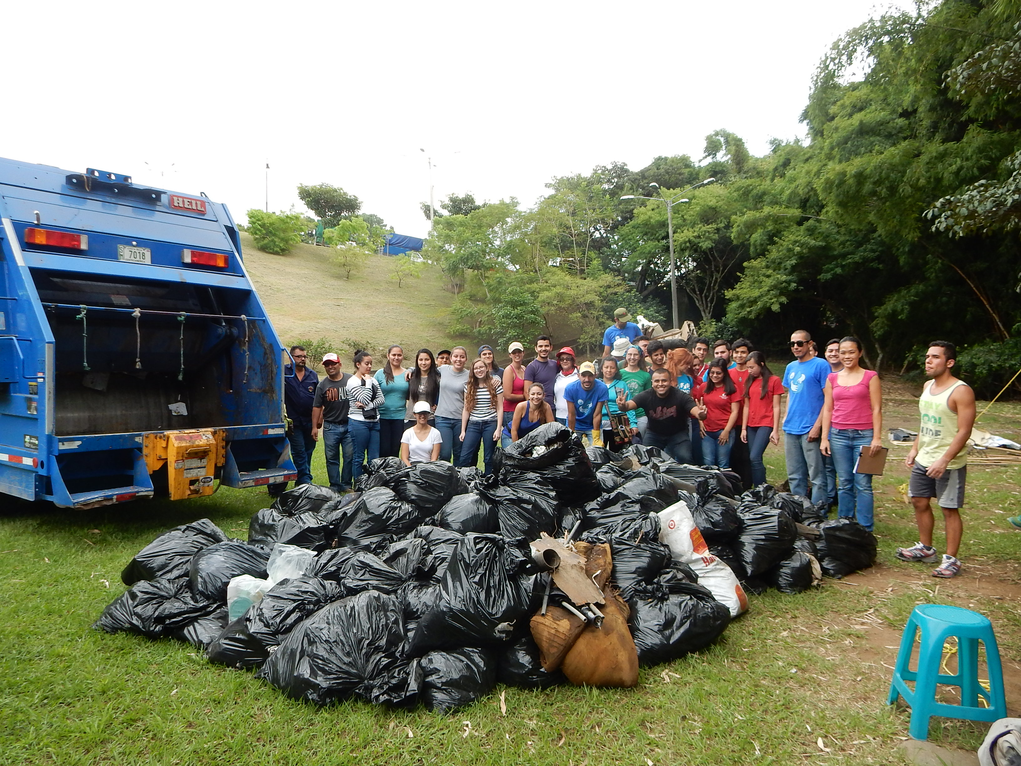 Two tons of trash pulled from the Torres River