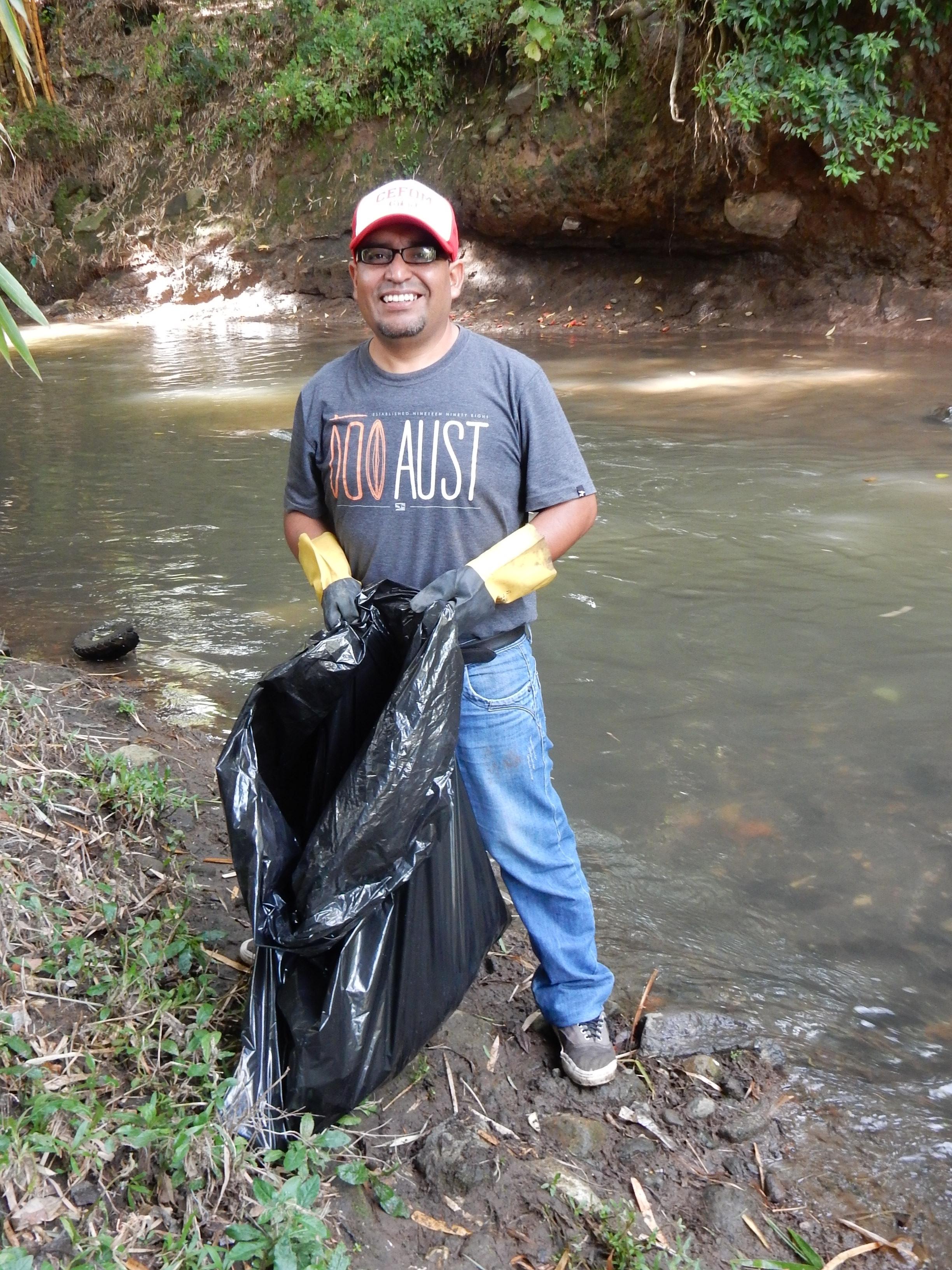 UBL student Ernesto Padilla at the Torres River
