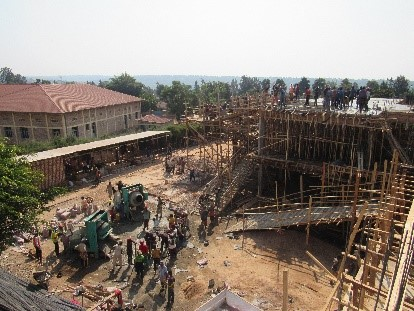 Construction on July 30.