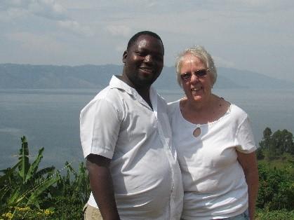 Thomas and me at Lake Kivu.
