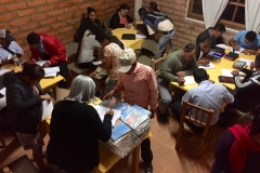 An evening session to fill out registration forms and pass out course materials