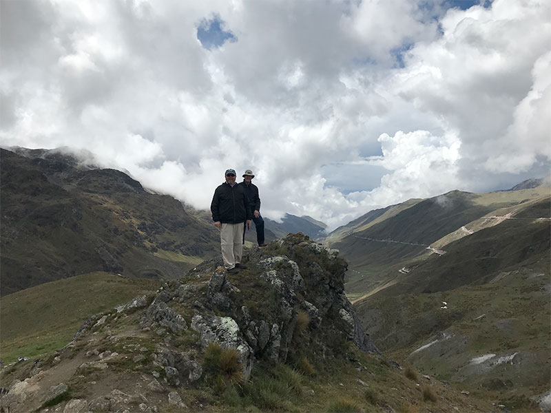 Two Presbyterian pastors and friends from New Jersey stand near the base of Huaytapallana Glacier in the central Andes. During such study or service trips to Peru, it is the hope of our partners that our friends from the Presbyterian Church gain an increased sense of awe and gratitude for God´s gift of Creation.