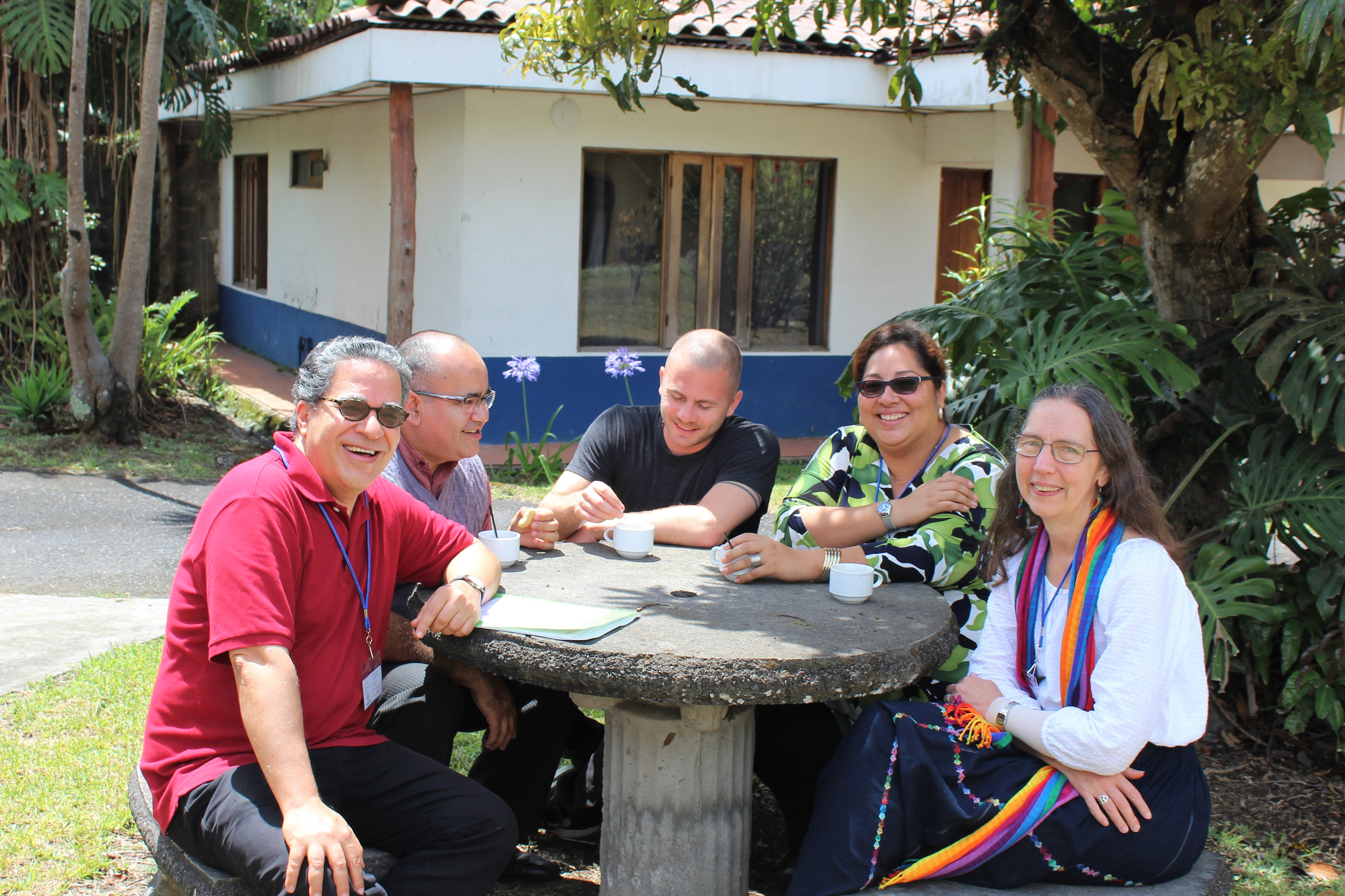 Theological conversations at the UBL (Karla at the far right).