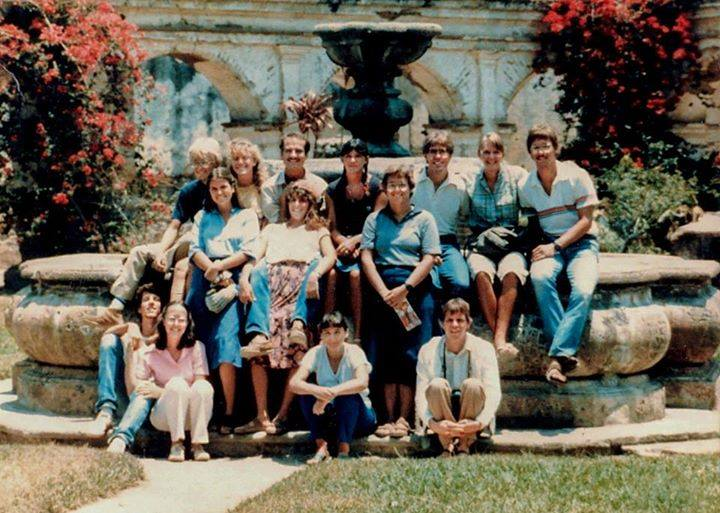 I was the teaching assistant (lower left) with the Whitworth College Central America Study/Service Term students in 1984.
