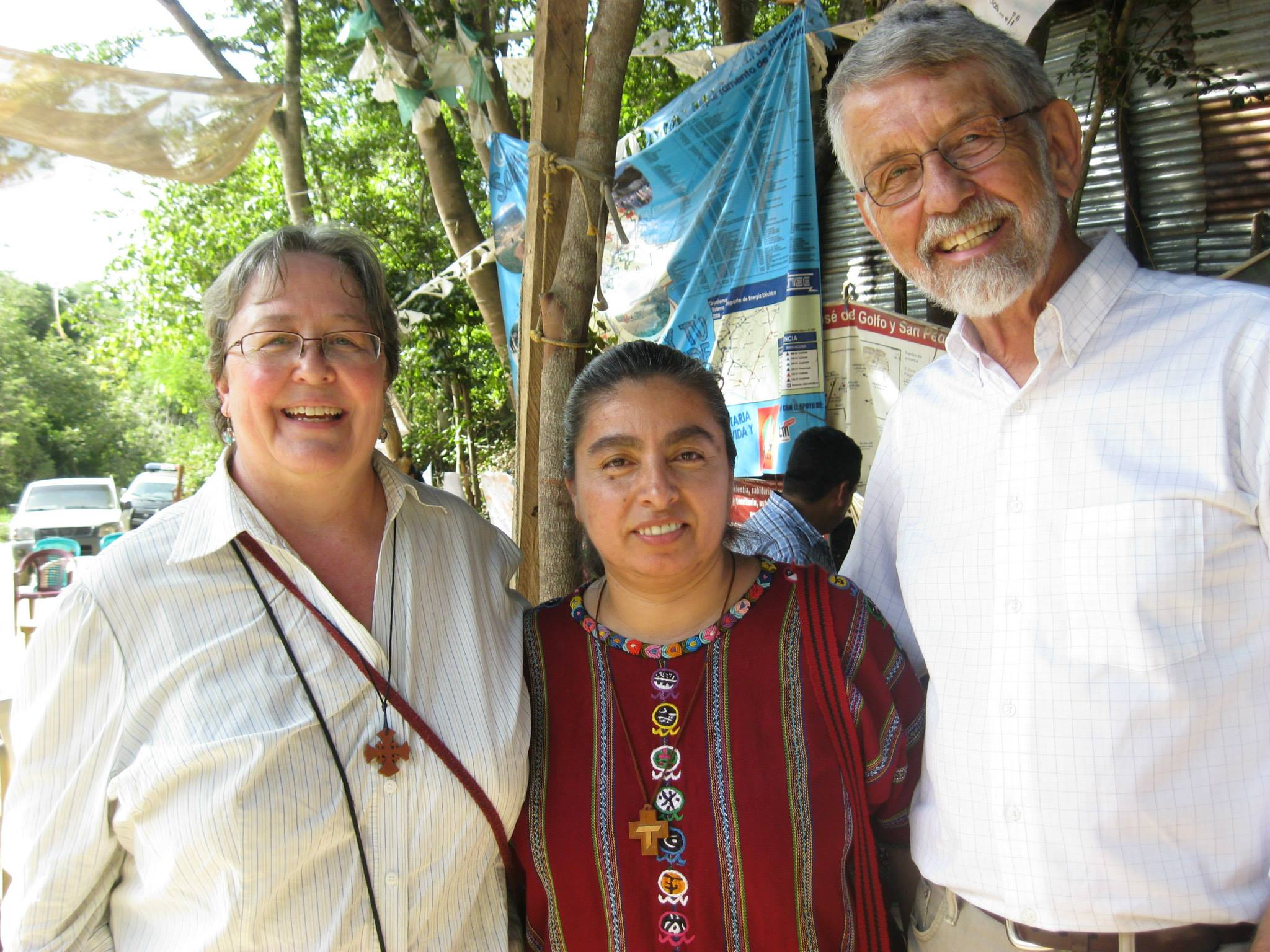 My worlds converged briefly when my Whitworth professor the Rev. Dr. Don Liebert visited Guatemala in 2015 and attended mass with me in the peaceful mining resistance in La Puya. We were hosted by Carmen Martínez, a former nun and key facilitator/accompanier in that resistance.