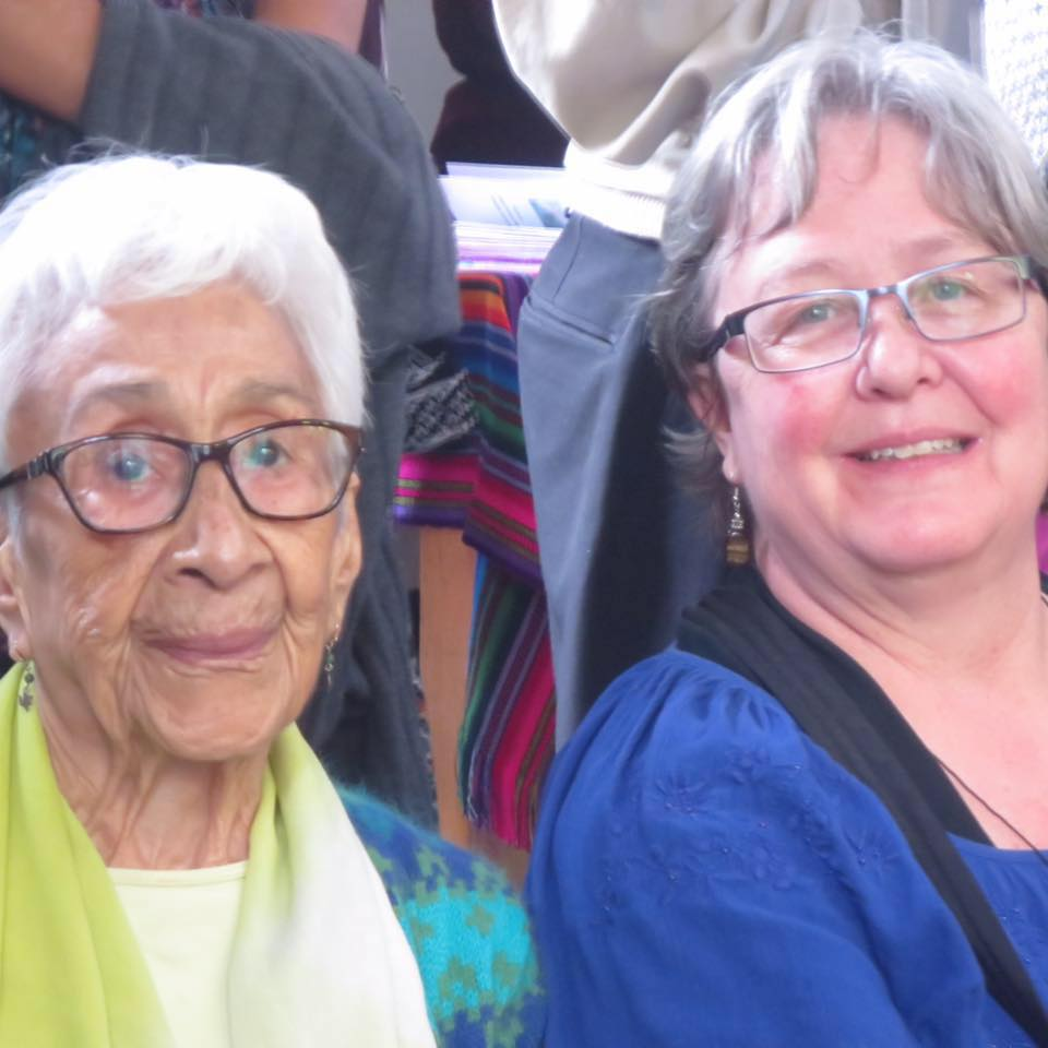 With poet, professor, and theologian Julia Esquivel in 2017.