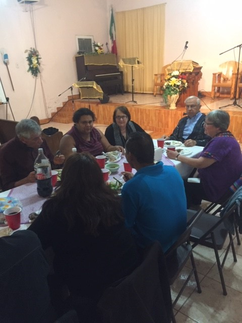 Meeting with sisters and brothers in the faith and members and friends of the board of Presbyterian Border Region Outreach (PBRO) in Juárez, Chihuahua, México. (November 2018)