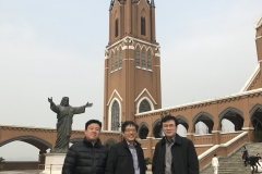 With Mr. Park and Dr. Yim at Dushu Lake Church and Suzhou Seminary