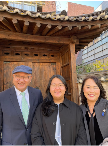 The Han family sends greetings from South Korea.