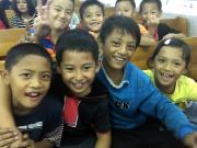 Bunun Children together in church