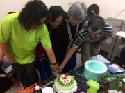 Four church leaders celebrating their birthdays