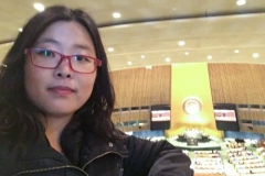 Min-Hee Kim at the United Nations assembly (Photo provided)