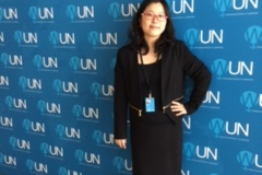 Min-Hee Kim at the United Nations (Photo provided)