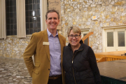 Richard DuBose, president, Montreat Conference Center, with Jan Edmiston, PC(USA) co-moderator, at College Conference at Montreat