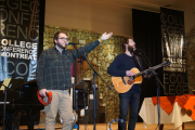 College Conference at Montreat music leaders, Zach Wells and Sam Burchfield, during opening worship