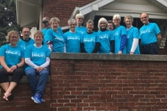Mission team from the Presbytery of East Iowa during their service with Hands & Feet in partnership with AMEN St. Louis