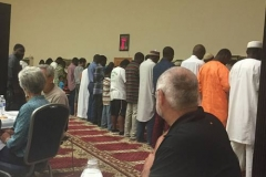 Members of Guilford Park Presbyterian Church observe Muslim prayers at the Islamic Center mosque. Since 2015, the two faith communities have been getting to know each other, building friendships in light of threats of violence directed at immigrants in their community. (Photo courtesy of Melanie Rodenbough)
