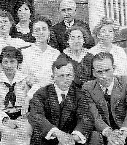 Grandfather Ralph Waldo Lloyd (front center) with mission teacher colleagues at Westminster College, Salt Lake City