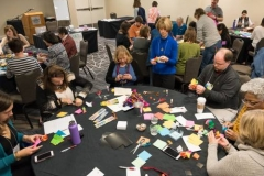 Participants in the 'Using Art to Help Children, Youth and Adults BE STILL' workshop. (Photo by Gregg Brekke)