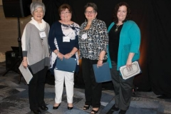 APCE 2017 annual award winners Anne Wilson, Laurie Farquharson, Bette Case and Ruth Cole Burcaw (Photo by Gregg Brekke)