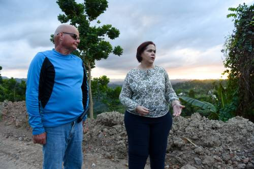 César Oliver and Lourdes Perez's farm in Lares, Puerto Rico, was devastated by Hurricane María in September 2017. They are struggling to rebuild to provide jobs for seniors in their community. (Photo by Rich Copley)