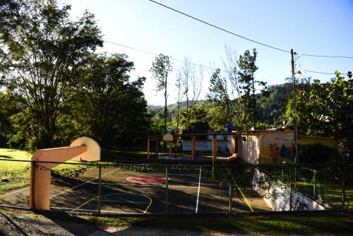 Campamento El Guacio features facilities like a basketball court, a staple at many mainland Presbyterian camps. (Photo by Rich Copley)