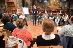 """Paul Vasile leads the """"Sing God a New Song"""" workshop at the 2017 NEXT Church National Gathering. (Photo by Gregg Brekke)"""