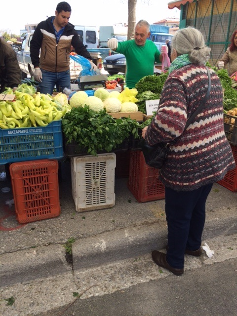 Nadia at the open market.